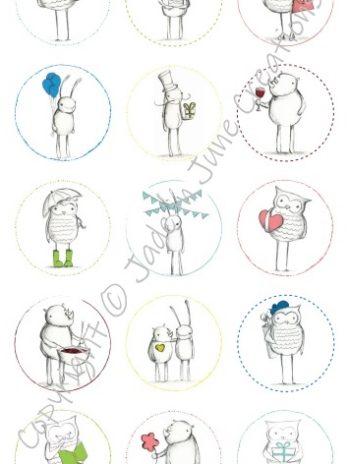 Stickers – 15 Round Stickers