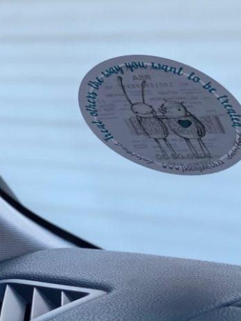 Licence Disc Sticker – Rhino & Bunny