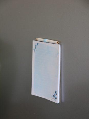 Notebooks Blue Watercolour Fridge Notebook