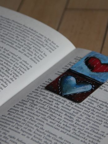 Magnetic Bookmark Hearts