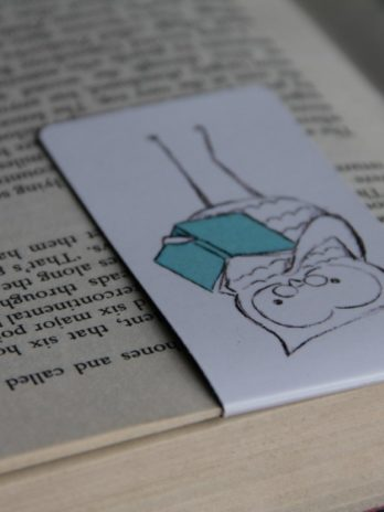 Magnetic Bookmark Owl Teal Book