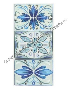 Magnetic Bookmark Blue Mosaic