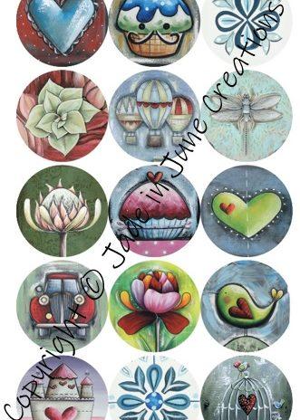 Stickers – 15 Round Stickers 2