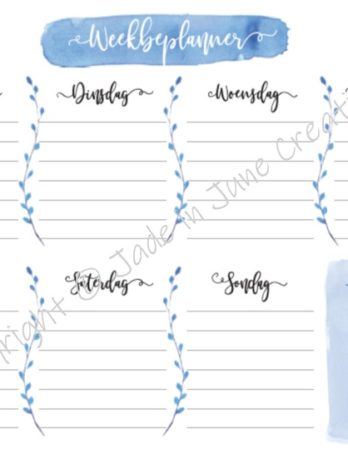 Weekly Planner – Afrikaans