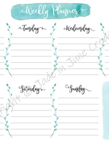 Weekly Planner – English