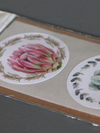 Stickers 6 Round Fynbos