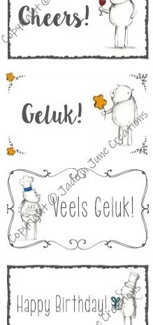 Label – 6 Gift Labels Afrikaans and English