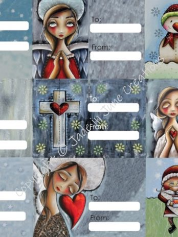 Stickers – 9 Christmas Gift Stickers