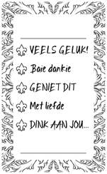 Gift Tick off Labels Afrikaans