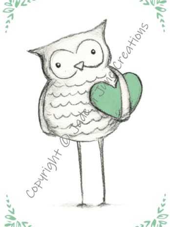 Owl with Heart