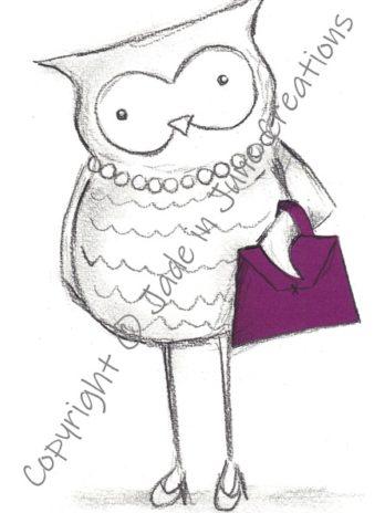 Owl with Handbag