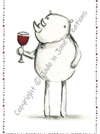 Rhino with Wine
